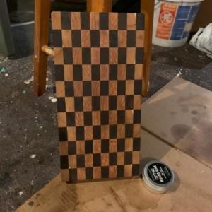 End grain Walnut & Cherry Wood Cutting Board