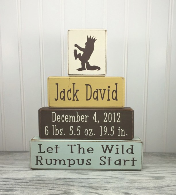 where the wild things are personalized baby gift new baby birt