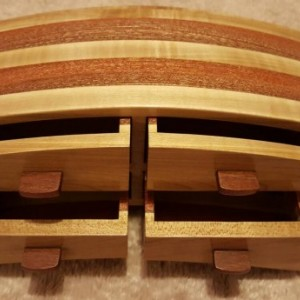 Bandsaw box featuring maple and mahogany