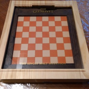 Message in a Bottle Glenlivet Scotch Box Chess Set