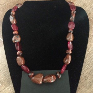 Red Granite Rock Necklace
