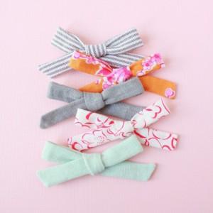 Clip or Headband, Skinny Schoolgirl Bow (Set of 5), little girl clip, baby headband