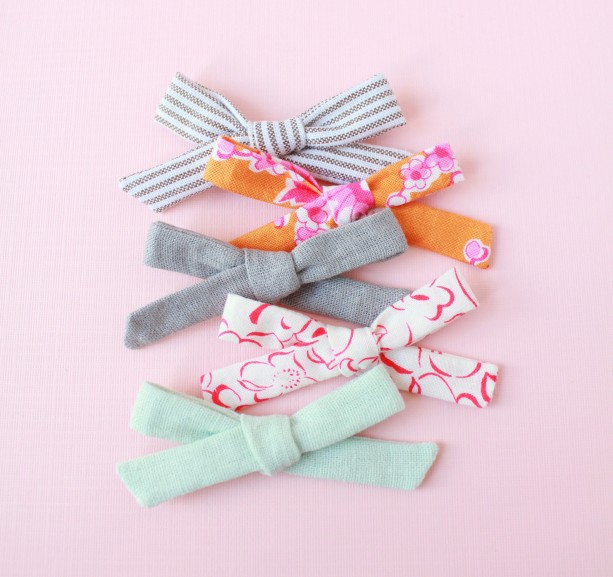 Clip or Headband, Skinny Schoolgirl Bow (Set of 5), little girl clip, baby headband