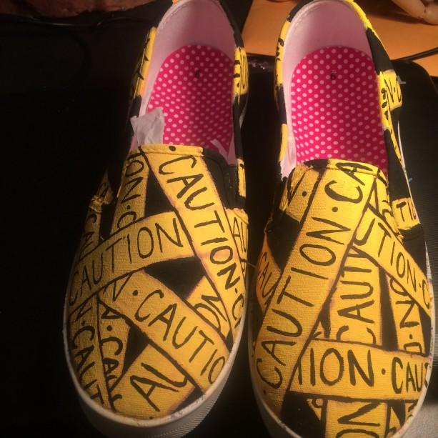 Caution Tape Shoes