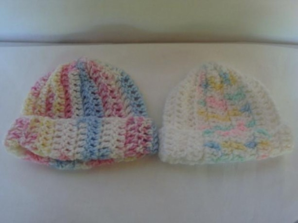 Baby Crochet Hat, Crochet Hat For A Newborn/Infant, Head Warmer For A Baby Multi Colored Baby Hat