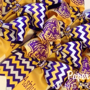 Custom Cheer Bow, Softball Bow, Tic Toc Bow, Team Bow