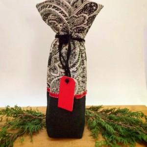 Hostess gift, Wine bag, Thank you Gift, Housewarming, Teacher gift, Party bag