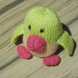Knit Penguin, Stuffed Penguin,  Green  Toy, Plush Toy, Soft Small Toy,  Knitted Penguin, Baby Penguin