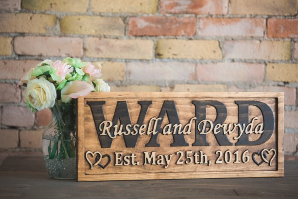 Wedding Date Sign, Sign For Family, Wedding Party Gift, Wedding Name Sign, Natural Wood Sign, Wood Cutout, Bridal Shower Gift, Wall Monogram