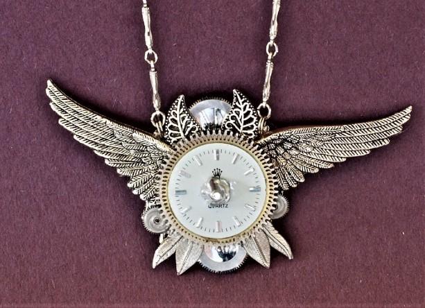 Silver Tone Wings