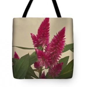 Plumed Cockscomb Flowers Tote Bag
