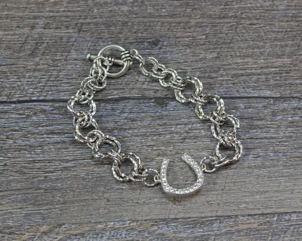 Bling Horseshoe Spiral Chainmaille Bracelet
