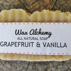 Grapefruit Vanilla All Natural Soap / Two 5 oz Bars