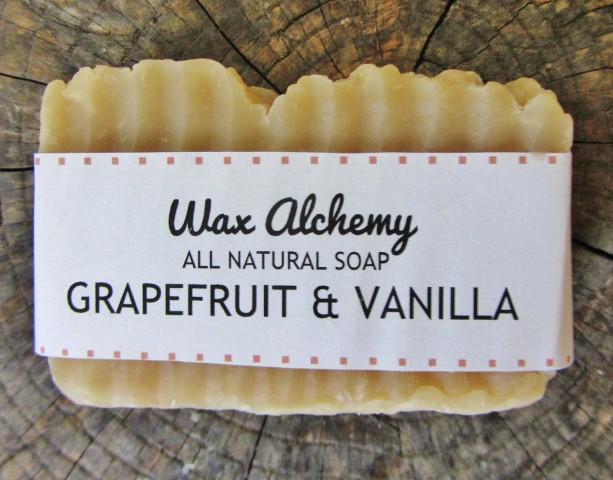 Grapefruit Vanilla All Natural Soap / Two 5 oz Bars