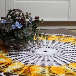 Sundial Crocheted Doily