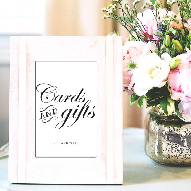 Gift Table At Wedding Reception: Cards And Gifts 8x10 Wedding Sign