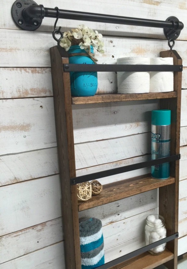 Farmhouse Bathroom Shelf Farmhouse Decor Bathroom Shelving