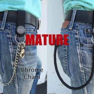 "Mature, Bad Mother F*cker Window & Zipper Wallet, 18"" Chrome Chains ONLY, Key FOB, Genuine Leather, Trucker Wallet, Biker Wallet"
