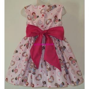 NEW Handmade Raggedy Ann/Andy Hearts Pink Dress Sz 12M-14Yrs
