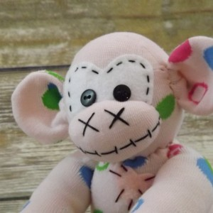 Sock monkey : Liz ~ The original handmade plush animal made by Chiki Monkeys