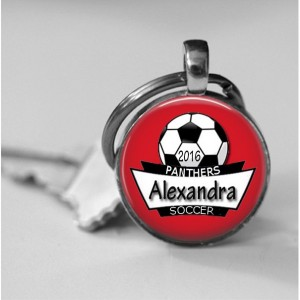Personalized Soccer Trophy  Necklace or Key Chain Team Awards Girls Soccer Team pendant Boys Soccer Team gift Award Trophy