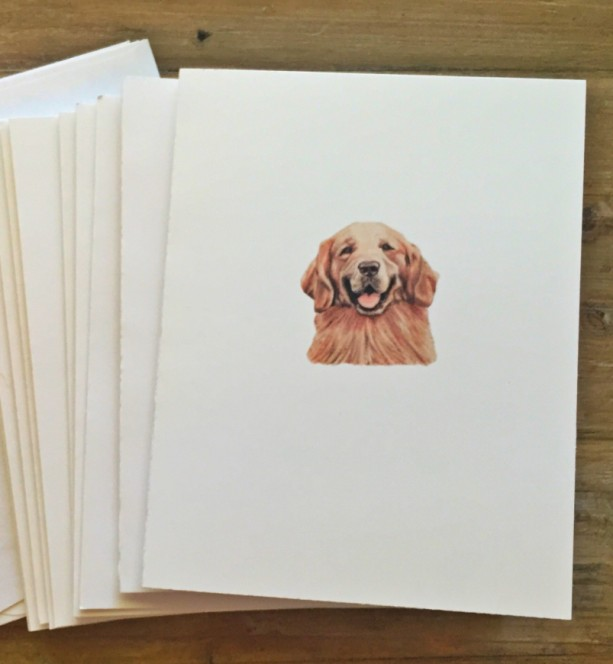 Golden Retriever Cards with envelopes, Blank Note Cards, Stationery Set, Custom Stationery, Stationery Gift, Note Card Set, Note Cards