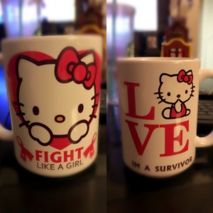 Custom Made Hello Kitty Cancer Survivor 15oz Coffee Mug