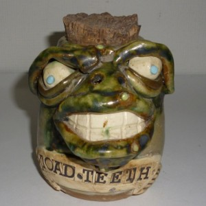 Handmade Clay Toad Teeth Animal Spice Jar Artist Judhe Jensen of Topeka Kansas