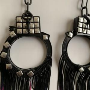 Neon ombre handcuff earrings