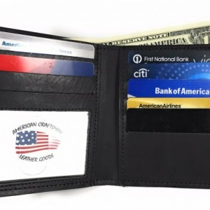 Mens Tall Bifold Wallet, Genuine Leather, Mens Wallet, Durable Wallet, Made in USA