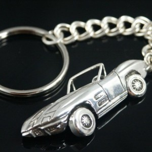 Corvette Sting  key chain sterling silver