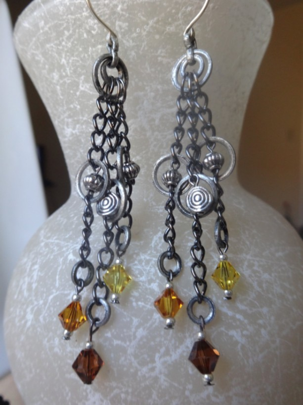 Charms and Trinkets Dangle Earrings (Junkyard-Inspired)