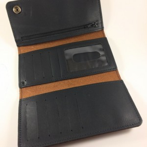Mens Deluxe Trifold Wallet,Genuine Leather,Leather Wallet,Leather Trifold Wallet,USA,Mens Leather,Black, Wallet