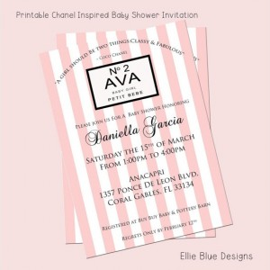 DIY Printable Chic Fashionista Inspired Shower Invitation