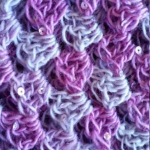 Infinity Scarf - Cowl Scarf,  Circle Scarf, Eternity Scarf, Fall Scarf, Sequins, Winter Scarf, Crochet scarf, Pink Scarf, Handmade