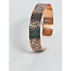 Handmade Bronze Bracelet Dimple Textured Unisex