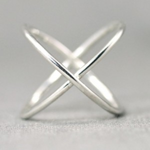 Criss Cross Ring - X Ring - Silver X Ring