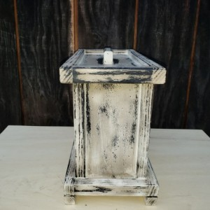 Handmade,Primitive,Distressed,2 person,Cremation,Human ashes urn,with slots to hold a interchangeable 8 x 10 picture on each side