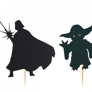 Star Wars Cupcake Toppers - Darth Vader & Yoda