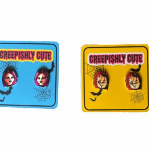 Custom Horror Movie Stud Earrings