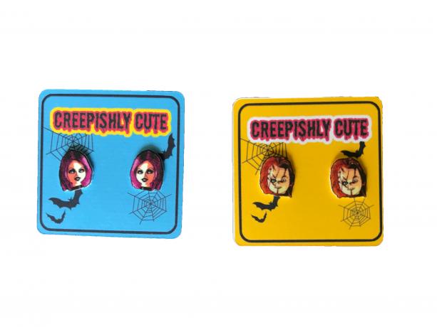 Custom Horror Movie Stud Earrings Halloween