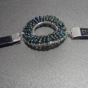 Dark Rainbow Seed Bead Bracelet.