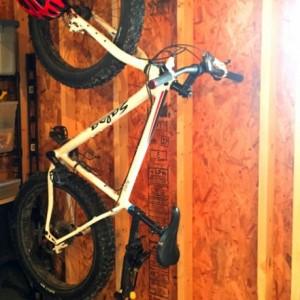Bike Rack, Bike Hook,  Bike Hanger, Bike Bracket, Industrial Black Pipe Heavy Duty Hanger Holds over 50 Pounds- Fat Tire Bikes, Road Bikes
