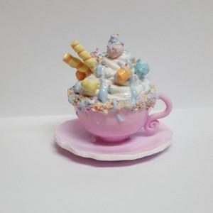 OOAK Polymer Clay Unicorn Hot Chocolate Mug Miniature Home Decor