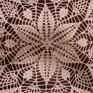 """Amazing Real Handmade Crochet Tablecloth-Doily, White color, 31.5"""", """"LITTLE HEARTS"""", 100% Cotton - FREE shipping U S"""
