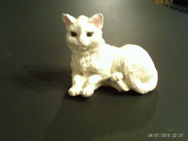 White Cat Statue