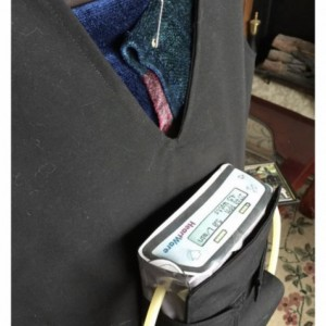 Men's LVAD Heart Ware Medical Vest, custom made by Liveayde. Medical heart vest