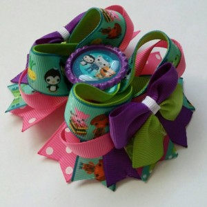 Octonauts Hair Bow, Octonauts bow, Octonauts birthday bow, Octonauts party bow, Octonauts clip, Octonauts