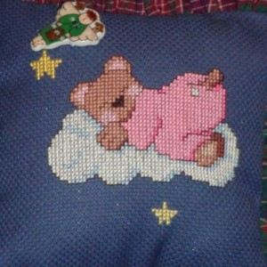 Sleeping Bear Pillow Door Hanger