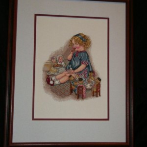 Let's Have A Tea Party - Hand Stitched Framed Art
